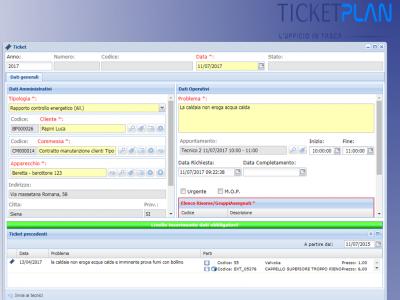 TicketPlan: lo storico degli interventi all'apertura del ticket